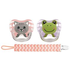 Dr.%20Brown's%20BPA%20Free%200-6%20Months%20Size%201%202%20Pack%20Prevent%20Orthodontic%20Printed%20Pacifier%20with%20Clip%20-%20Animal%20Faces%20Girl