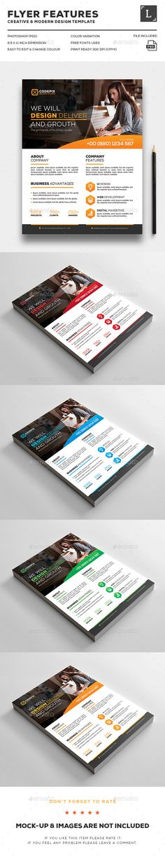 Corporate Flyer Flyer template, Brochures and Editorial - corporate flyer template