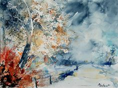 This superb #watercolor #landscape by Pledent shows just how effective this medium can be to paint with :-)