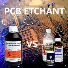 Is the best PCB etchant in every kitchen ? Etching pcb's with vinegar, salt and peroxide. Kitchen materials do etch pcb's. Hobby Electronics, Electronics Projects, Printed Circuit Board, Arduino Projects, Diy Projects, Scientific Method, Ham Radio, Electrical Engineering, The Best