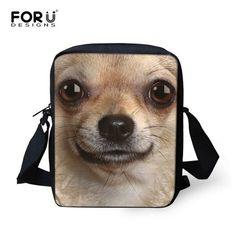 FORUDESIGNS Cute Animal Chihuahua Girls School Bags Small Children Schoolbag for Baby Students Schoolbag Kids Bookbag Mochila