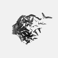 Aneta Ivanova: fusioni di photoshop effetto doppia esposizione