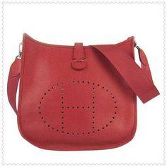 Hermes Red Evelyne III Shoulder Bag $215.00