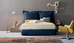 Double bed with removable cover NATHALIE | Double bed - Flou | Beds ...