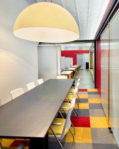 Longest Meeting Room Interior Design with colorful floor - Interior Design | Exterior Design | Office Design | Home Design