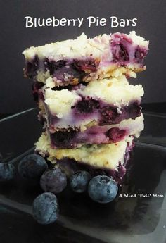 Creamy and decadent blueberry pie bars Since the first time I pinned it was linked to the wrong recipe.