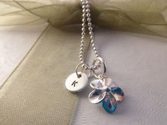 Plumeria Necklace Personalized Hawaiian Flower by hjvdesigns, $26.00