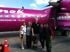 Nok Airlines, flying to Maehongson, Thailand