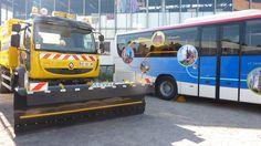 Déneigeuse et Navette Touristique sur le stand Transport du Conseil Général à la Foire Européenne. © Marta Jacque / CG67
