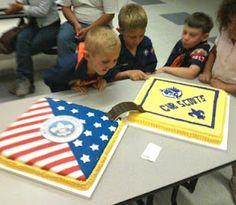 Cub Scout Bridging cake