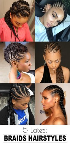 Split hair in three sections with large middle section. Dutch braid the middle section. Loosen the braid and then tuck the ends under and pin. Twist the remaining sides and pin them around the braid. #hairstraightenerbeauty #braidshairstyles #braidshairstylesblackhair #braidshairstylesafricanamerican #braidshairstyleseasy #braidshairstylestutorials #braidshairstylesforlonghair