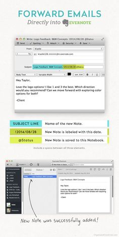 Evernote Guide for Organized Creatives: Status Updates