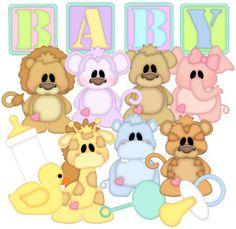 Animal Babies Patterns & Cutting Files (SVG,WPC,GSD,DXF,AI,JPEG)