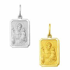 Medalha em Ouro de Santo Antônio - Retangular