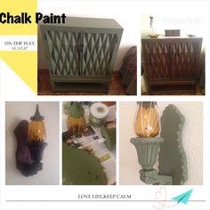 Antes y después de un mueble yn farolillo de madera de estilo castellano renovado con #chalk paint #americana decir