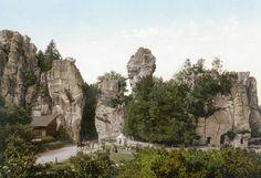 Externsteine, Teutoburger Wald, Nordrhein-Westfalen, Germany