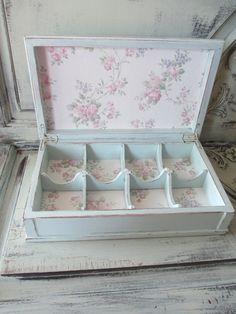 Tea Box - Jewelry Box - Hand Painted - Tea Party. $45.00, via Etsy. I seriously want this.