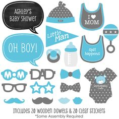 free baby shower photo booth props - Bing Images