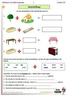 Afrikaans Language, 1st Grade Math Worksheets, Teaching English Grammar, Exam Papers, Home Schooling, Study Materials, Social Science, Science And Nature, Kids Education