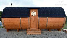 Diy Sauna, Indoor Outdoor, Outdoor Decor, Fenetre Double Vitrage, Barrel Sauna, Fabricant, Home Decor, Log Projects, Chalets