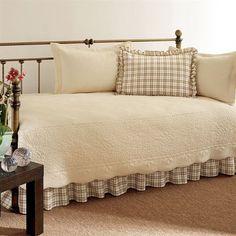 trellis plaid 5 pc daybed bedding set
