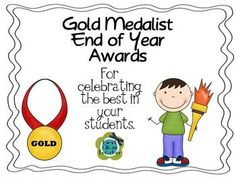 Gold Medalist End of Year Student Awards - what a cool idea for rewarding your music students at the end of the year! #music #teacher