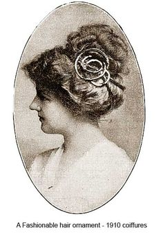 1910-Hairstyles-New-Coiffures-of-the-Summer-Girl - Hair ornaments
