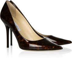 Jimmy Choo Abel Tortoise Shell Print Patent Leather Pumps in Brown