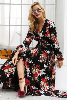 96dc47b3df9 Buy Robin Print Maxi at Bijou Blossoms for only  59.00 USD Printed Gowns