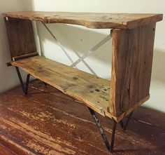 Just finished this one up! A media console made of #reclaimed #liveedge pine subfloor #salvaged from the future site of @hudsonvalleybrewery. Also hand-bent steel feet made from parts of an old cafeteria cart and aluminum bracing. #make #maker #metalworking #woodworker #woodworking #wood #upcycle #upcycled #upcycledfurniture #reclaimedwood #reclaimedfurniture #customfurniture #hvmac #hudsonvalley #beaconny #diy #industrial #industrialfurniture #rustic by keithdecent
