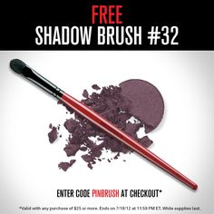 You found the code, success! Just enter PINBRUSH with any $25 Smashbox.com purchase to make this yours.