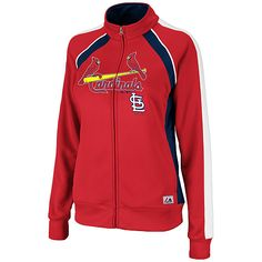 St. Louis Cardinals Women's Great Play Track Jacket by Majestic Athletic - MLB.com Shop