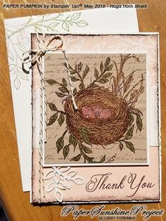 Paper Pumpkin Alternatives May 2019 Hugs from Shelli Paper Sunshine Project Stampin Up Paper Pumpkin, Pumpkin Cards, Bird Cards, Card Making Inspiration, Card Kit, Paper Cards, Stamping Up, Paper Background, Stampin Up Cards