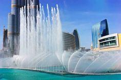 Water Falls in Dubai #uaegolf #dubai #fountain