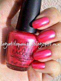 Gatita's nail art: pink wednesday! come to poppy-OPI
