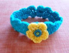 Baby crocheted headband