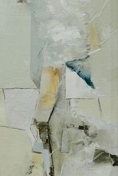 White Original Abstract Painting, Oil, 16 x 7 inches, Framed, Modern Wall Art, Ready to Hang