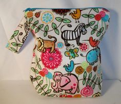 Sweet Safari Large Project Pouch by blingyourstring on Etsy, $22.00