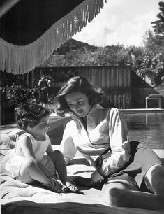 Gene Tierney with daughter, Christina, in 1951. Photo by Jean Howard......Uploaded By www.1stand2ndtimearound.etsy.com