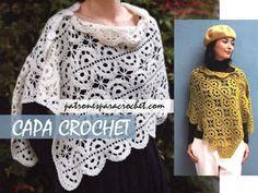 Patrones de Túnica de Abanicos Crochet Crochet Granny, Knit Crochet, Crochet Hats, Shawl, Crochet Patterns, Tapestry, Knitting, Blouse, Tops