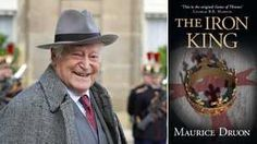 Maurice Druon and cover of his book, The Iron King. This book is the source of inspiration for the Game of Thrones novels. **Update: I think this history is pretty fascinating, but the book was slow moving compared to the Game of Thrones novels.**