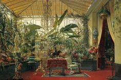 « La Véranda de la princesse Mathilde dans l'hôtel de la rue de Courcelles » Sébastien-Charles Giraud (1819-1892) Paris, 1864 (Arts décoratifs)