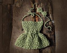 Newborn baby girl dress and Baby headband by GabriCollection