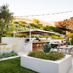 A Hillside Garden's Ingenious Design - Sunset