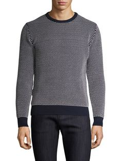 Cotton Contrast Pique Sweater by GANT at Gilt