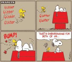 An awkward moment. #Snoopy #Peanuts