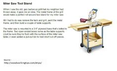 Miter Saw Tool Stand