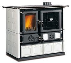 """La Nordica """"Rosa Maiolica White"""" Wood Burning Cooking / Cook Stove, 22K BTUs #LaNordica"""
