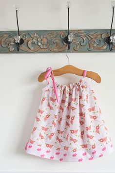 Simple pillowcase dress sewing tutorial by Melissa Mortenson of polkadotchair.com - includes measurements for multiple sizes