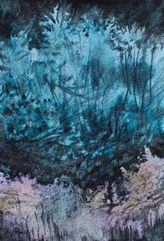 W cieniu | Anna Chmiel #tree #watercplor #painting #annachmil #japan #art #abstract #landscape #watercolor #painting #anna_chmiel #malarstwo #krakow #hanami #danielsmith #danielsmithwatercolors
